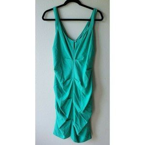 Nicole Miller Collection 10 Seafoam Ruched Dress